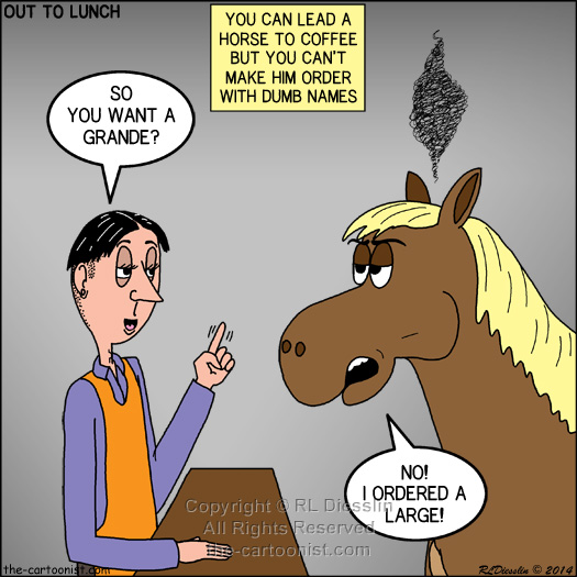 Rich 39 s out to lunch otl cartoons april 2014 for What can you make out of horseshoes