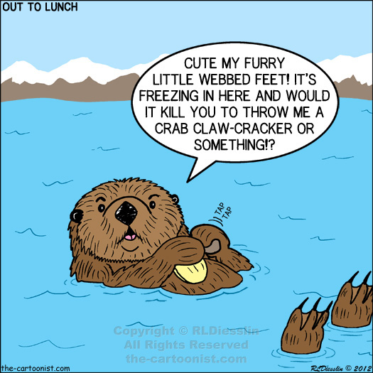 Otters Cartoon Pictures to pin on Pinterest