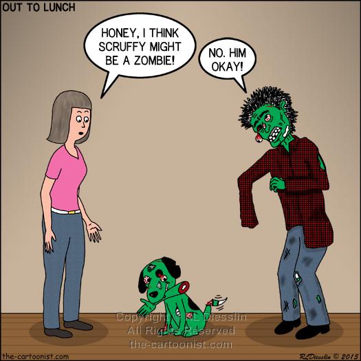 Pets Turning Into Zombies Otl Cartoon October 21 2015